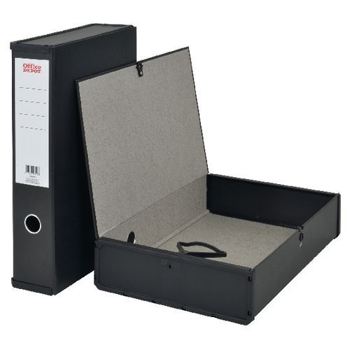 OFFICE DEPOT FILING BOXES x 10 SET A4 BLACK 40mm /& 25mm SPINE x 5 each FREE DEL